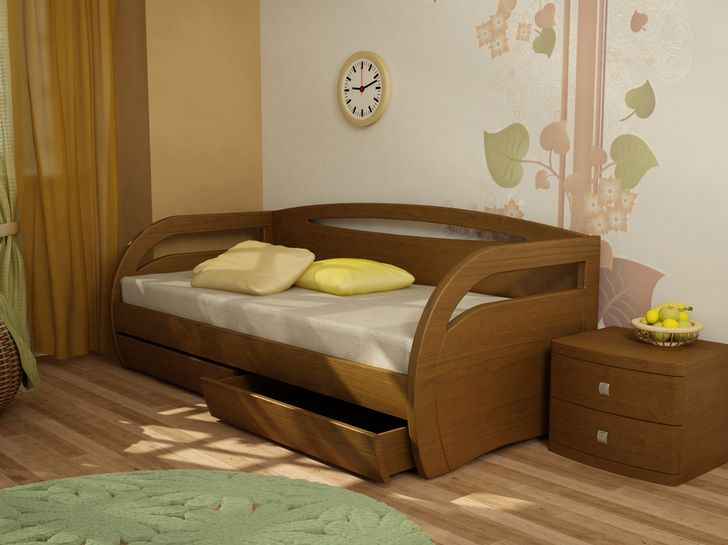 Кровать детская из массива дерева